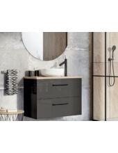 Arezzo Carmel 70 cm-es alsószekrény 2 fiókkal magasfényű antracit AR-167223