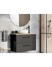 Arezzo Carmel 90 cm-es alsószekrény 2 fiókkal magasfényű antracit AR-167220
