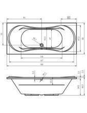 RIHO SUPREME 180X80 cm akril kád