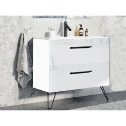 Arezzo Carmel 90 cm-es alsószekrény 2 fiókkal magasfényű fehér AR-167221