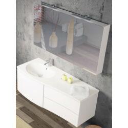 Riho Celano 3 fiókos mosdókagylóhoz illeszthető szekrény, bal (selyemfényű)
