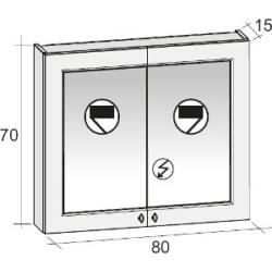 Riho Stanford Tükrös szekrény 80x70 cm