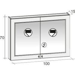 Riho Stanford Tükrös szekrény 100x70 cm