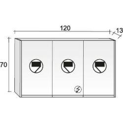 Riho Tükrös szekrény Type 120x70 cm
