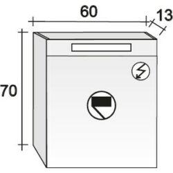 Riho Tükrös szekrény Type 60x70 cm