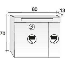 Riho Tükrös szekrény Type 80x70 cm