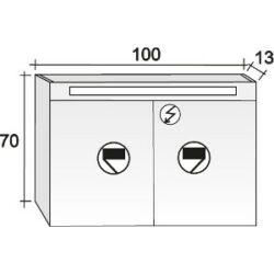 Riho Tükrös szekrény Type 100x70 cm