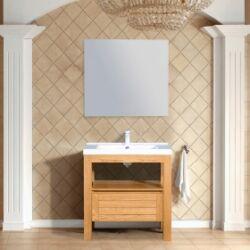 Wellis York Solo WB00239 szekrény mosdóval, tükörrel