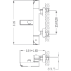Kép 2/2 - TEKA Soller termosztátos csaptelep kifolyócsővel króm 851010200