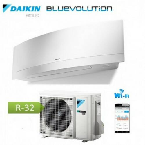 Daikin Bluevolution Emura FTXJ20MW / RXJ20M oldalfali inverteres klíma