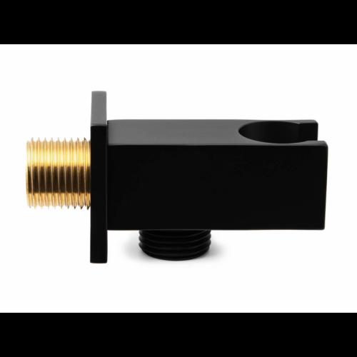 AREZZO design Rhodefield zuhanytartó gégecső csatlakozóval fekete AR-8025MB