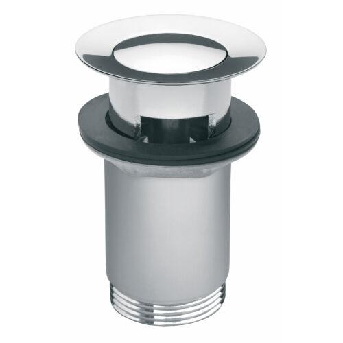 Ferro Click-clack lefolyószelep túlfolyós mosdóhoz, króm S283