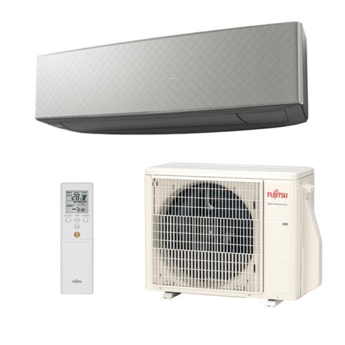 Fujitsu Design 2020 ASYG12KETAB / AOYG12KETA Oldalfali split klíma SILVER X DARK GRAY 3,4 kW