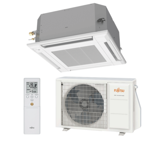 Fujitsu Standard AUXG12KVLA / AOYG12KBTB kazettás split klíma csomag 3,5 kW