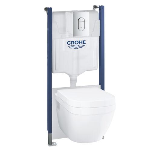 Grohe Solido 5 az 1-ben WC szett, 1,13 méteres telepítési magasság króm 39698000