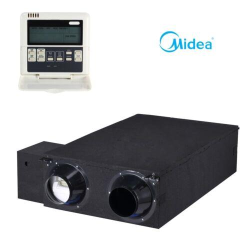 Midea HRV-D2000(B) hővisszanyerős szellőztető DC Inverter (standard távszabályzóval, kábellel)