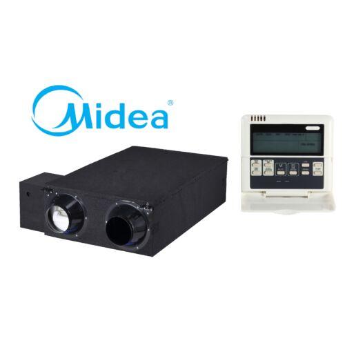 Midea HRV-D200(B) hővisszanyerős szellőztető DC Inverter (standard távszabályzóval, kábellel)