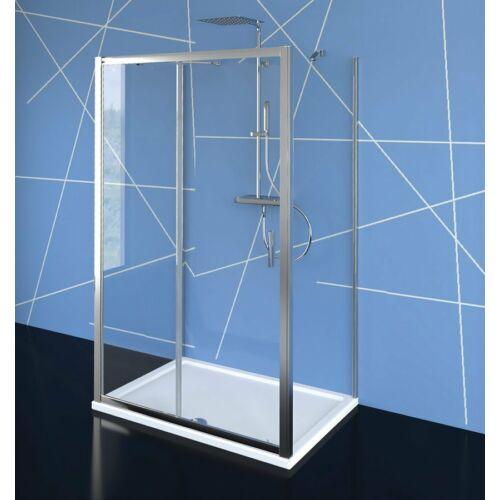 SAPHO POLYSAN EASY LINE zuhanyajtó 2 oldalfallal, 2 merevítővel, 1000x800mm, transzparent üveg (EL1015EL3215EL3215)
