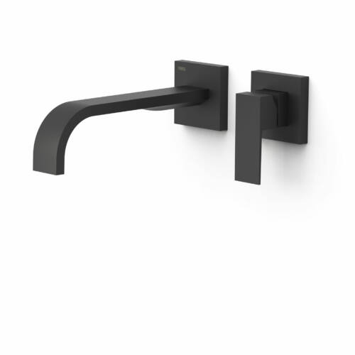 Tres Cuadro Exclusive egykaros fali mosdócsaptelep 240 mm-es kifolyóval matt fekete 00630002NM