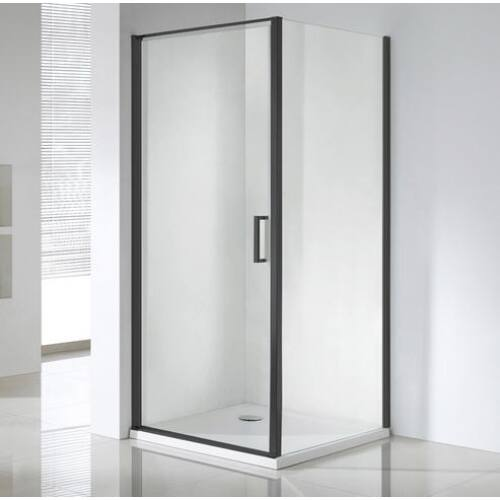 Wellis Quadrum Black 90x90 cm zuhanykabin, Easy Clean üveg WC00483